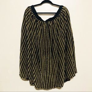 ModCloth gold and black stripes party skirt